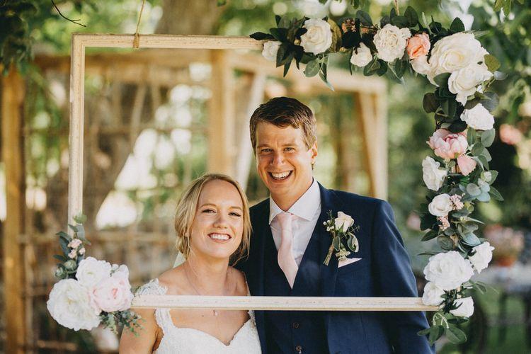 Homemade wedding photo frame