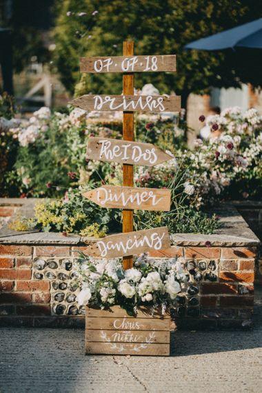 Wooden DIY wedding sign