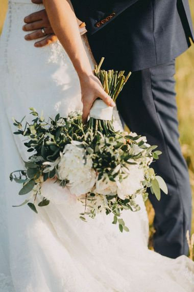 White wedding bouquet for bride