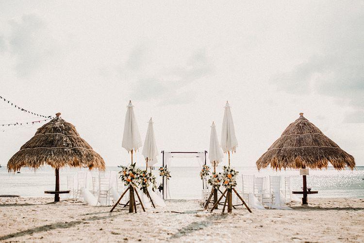 Aisle & Altar | Tropical Destination on the Beach at Nice Sea Resort, Koh Phangan Thailand Planned by Phangan Weddings | Carla Blain Photography