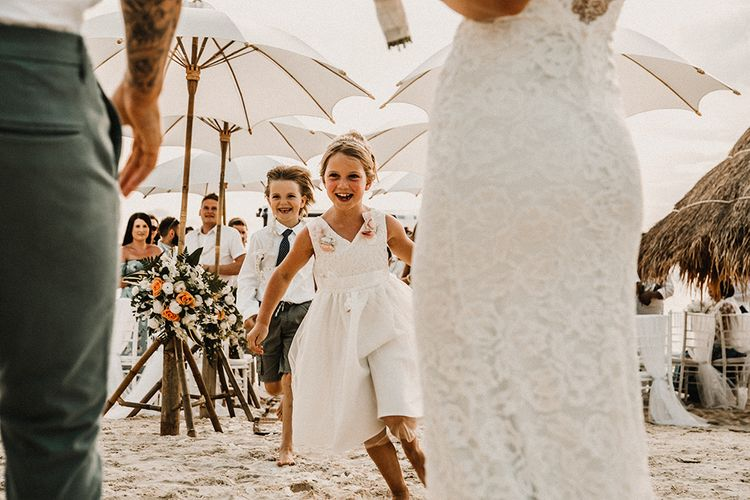Flower Girl & Page Boy | Tropical Destination on the Beach at Nice Sea Resort, Koh Phangan Thailand Planned by Phangan Weddings | Carla Blain Photography