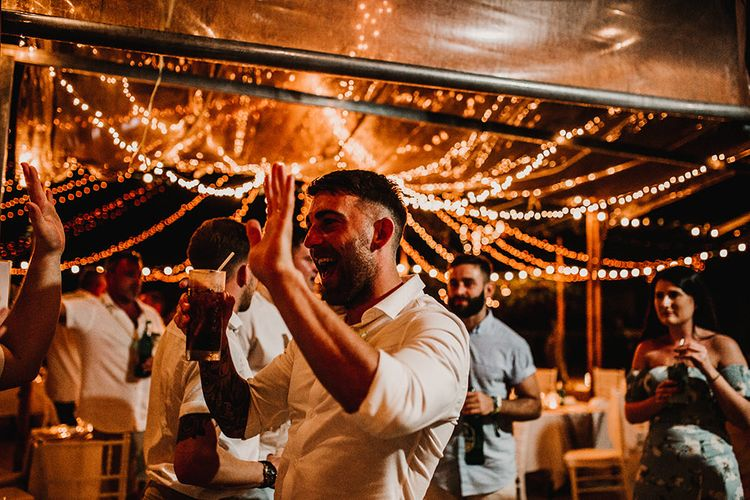 Groom in Turned Up Trousers, Bow Tie & Braces from Topman | Tropical Destination on the Beach at Nice Sea Resort, Koh Phangan Thailand Planned by Phangan Weddings | Carla Blain Photography