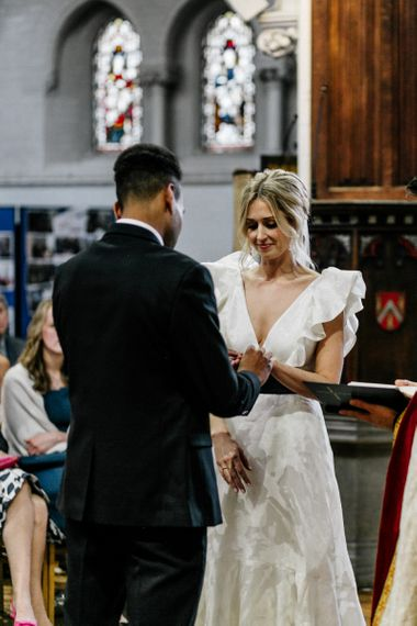 Exchanging of Rings at Ceremony