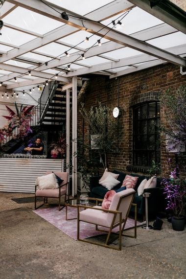 Seating Area at Loft Studio Wedding Venue in London
