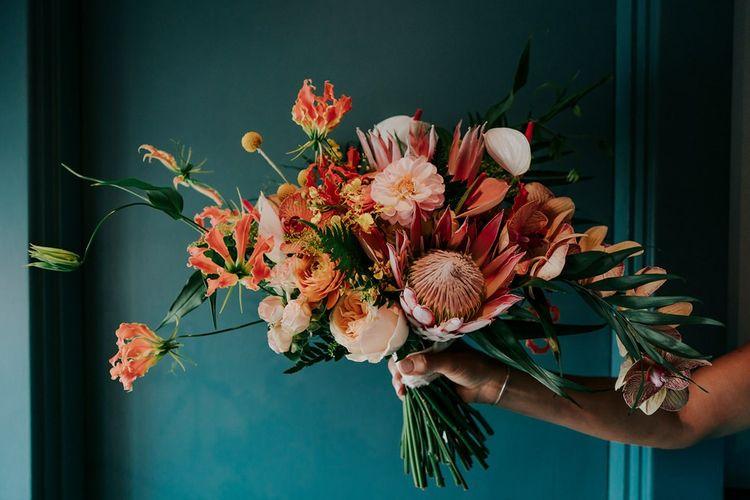 Orange Wedding Flowers Bouquet