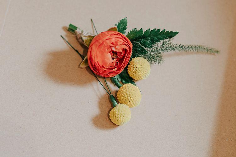 Orange Wedding Flowers Buttonhole