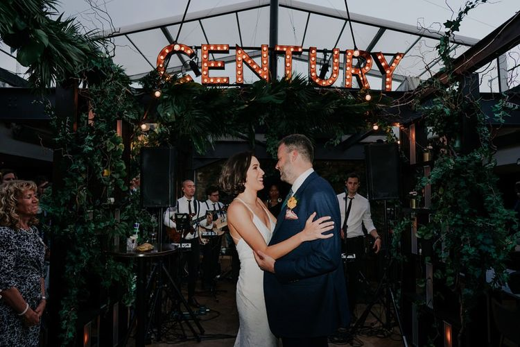 Bride and Groom First Dance at Century Club in Soho
