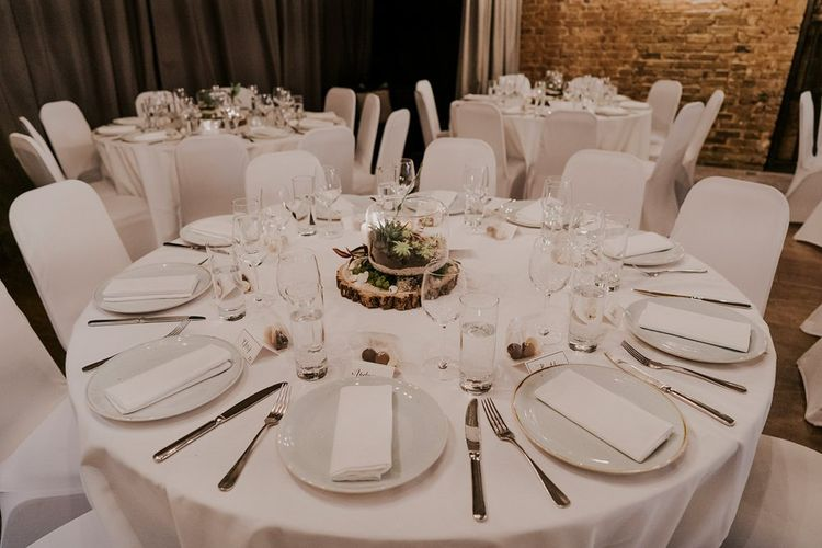 Wedding Table Decor And Set Up At London Wedding