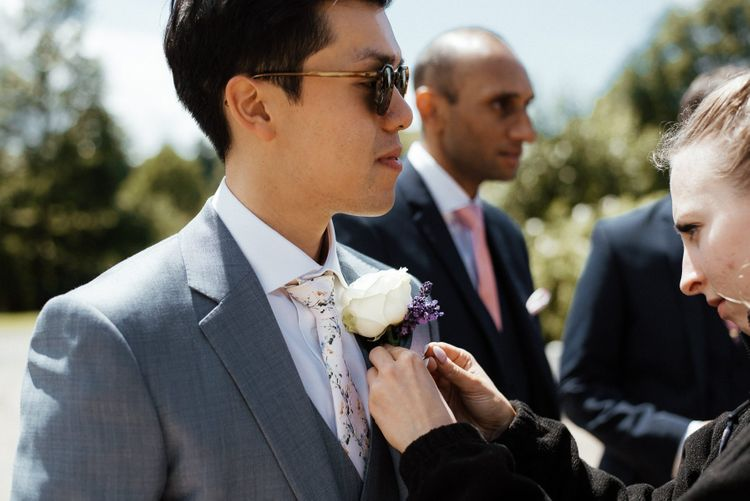 Groom with floral buttonhole