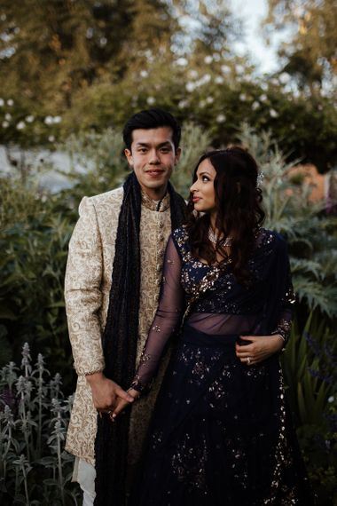 Traditional Indian wedding dress for gride and groom