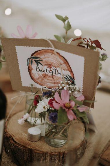 DIY table centrepieces at home garden for wedding celebration