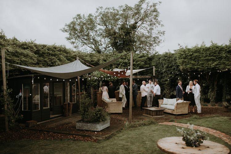 home garden for wedding celebration