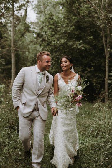 home garden for wedding portraits