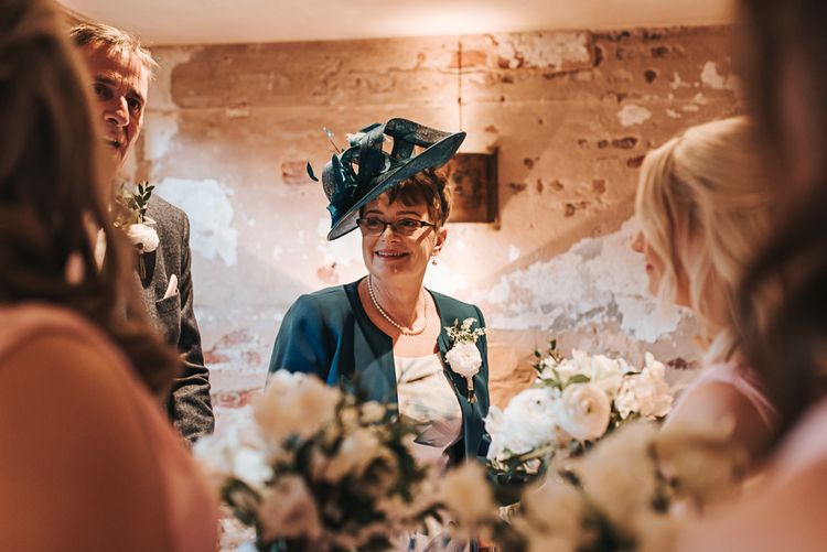 Mother of the Bride | Blush Pink and Copper | RMW The List Members Hazel Gap Barn, Nottinghamshire | Mikaella Bridal Gown | Pear and Bear Photography
