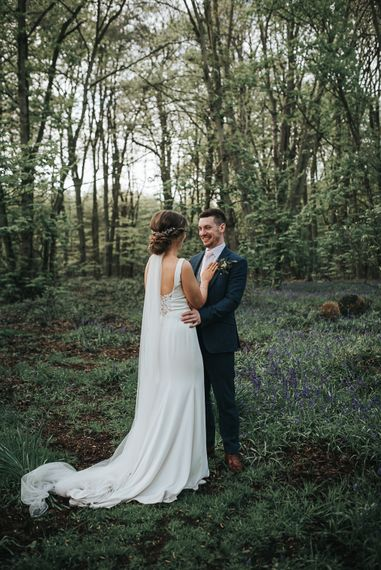 Woodland photoshoot | Blush Pink and Copper | RMW The List Members Hazel Gap Barn, Nottinghamshire | Mikaella Bridal Gown | Pear and Bear Photography