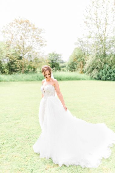 Detachable skirt wedding dress from Pronovias