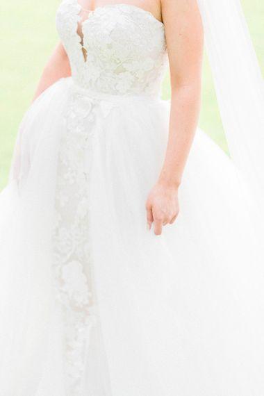 Pronovias detachable skirt wedding dress