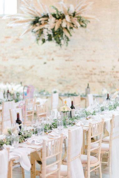 Foliage wedding table decor