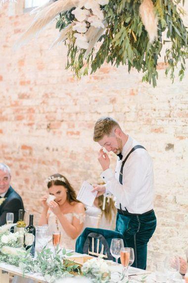 Emotional groom wedding speech