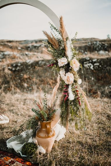 Moon Gate Wedding Flowers | A Wild Bohemian Bride in the Majella National Park, Abruzzo, Italy | Planned & Styled by Antonia Luzi | Federico Lanuto Photography