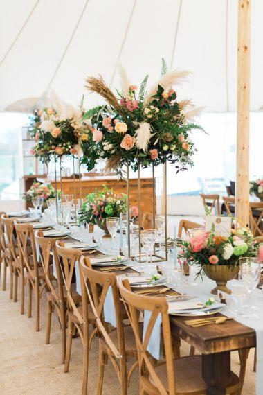 Tall Table Centrepiece Floral Arrangements