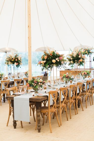 PapaKåta Sperry Tent Wedding Reception Decor with Beautiful Tablescapes