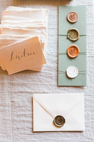 Elegant Wedding Stationery with Wax Seals
