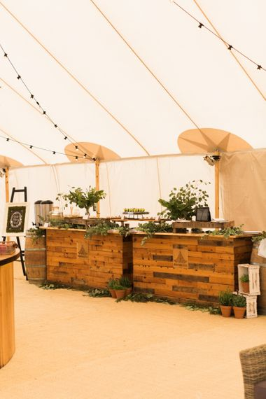 Wooden Canapes Bar by Goose & Berry Catering