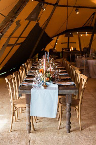 Wedding Reception Table Decor within PapaKåta Giant Teepee