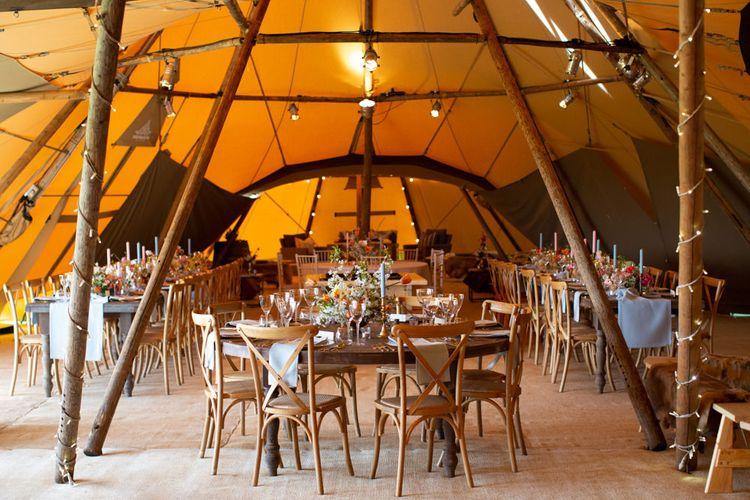 PapaKåta Giant Teepee Wedding Reception Decor