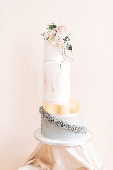 Tall Elegant Wedding Cake by The Frostery | Sophisticated Pastel Wedding Inspiration from Jean Jackson Couture | Emma Pilkington Photography