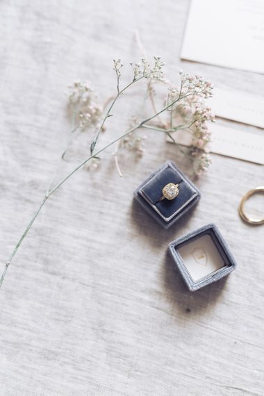 Ring Box and Engagement Ring | Sophisticated Pastel Wedding Inspiration from Jean Jackson Couture | Emma Pilkington Photography