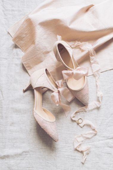 Diane Hassall Bridal Shoes | Sophisticated Pastel Wedding Inspiration from Jean Jackson Couture | Emma Pilkington Photography