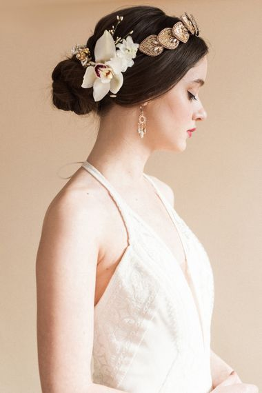 Bridal Hairpiece | Sophisticated Pastel Wedding Inspiration from Jean Jackson Couture | Emma Pilkington Photography