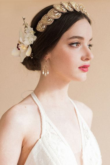 Bridal Beauty | Red Lipstick | Sophisticated Pastel Wedding Inspiration from Jean Jackson Couture | Emma Pilkington Photography