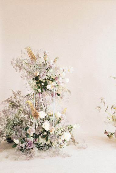 Delicate Flower Arrangements by Sass Flowers | Sophisticated Pastel Wedding Inspiration from Jean Jackson Couture | Emma Pilkington Photography