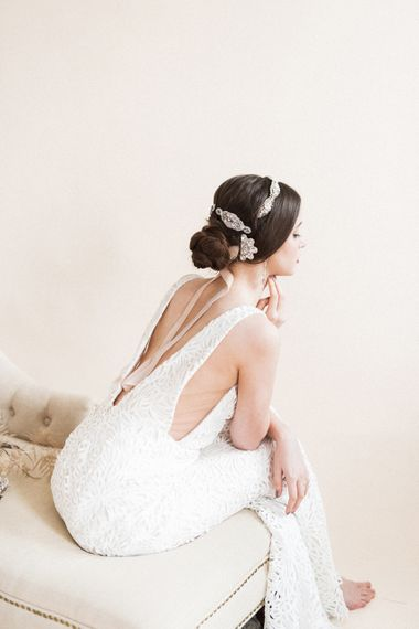 Hair Accessories | Bridal Headdress | Sophisticated Pastel Wedding Inspiration from Jean Jackson Couture | Emma Pilkington Photography