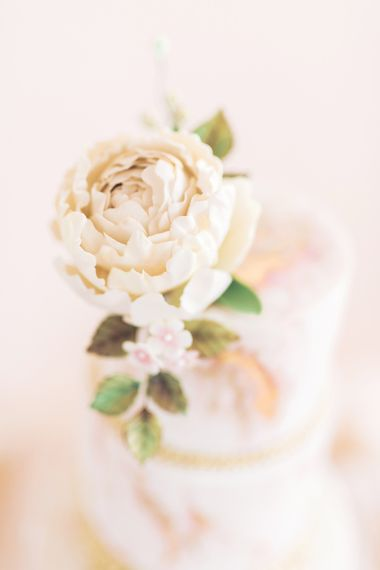 Flower Cake Topper | Sophisticated Pastel Wedding Inspiration from Jean Jackson Couture | Emma Pilkington Photography