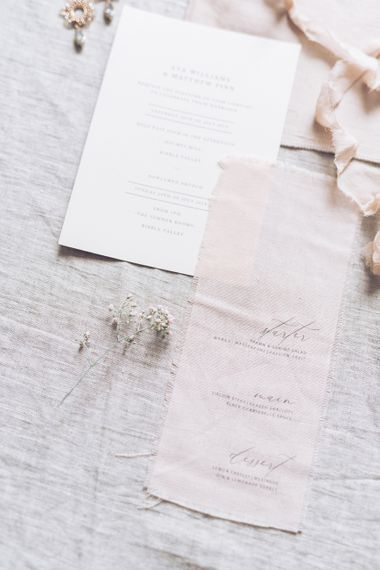 Vine in the Wild Wedding Stationery Suite | Sophisticated Pastel Wedding Inspiration from Jean Jackson Couture | Emma Pilkington Photography