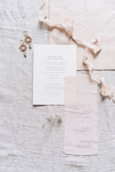 Vine in the Wild Wedding Stationery | Sophisticated Pastel Wedding Inspiration from Jean Jackson Couture | Emma Pilkington Photography