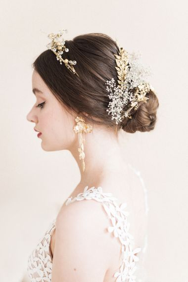 Stylish Gold Bridal Accessories | Sophisticated Pastel Wedding Inspiration from Jean Jackson Couture | Emma Pilkington Photography