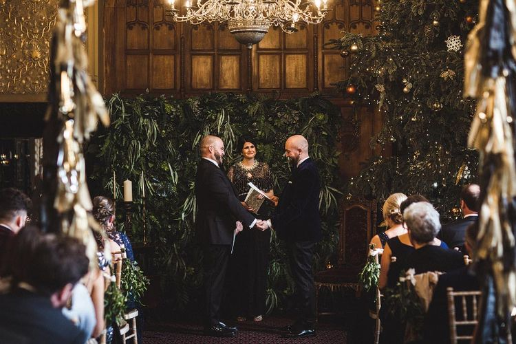 Groom & Groom Exchanging Vows During The Wedding Ceremony