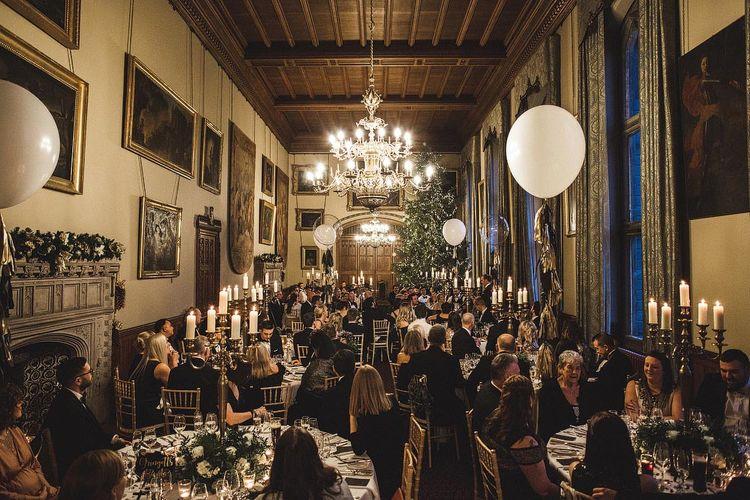 Magical Christmas Wedding Reception Decor