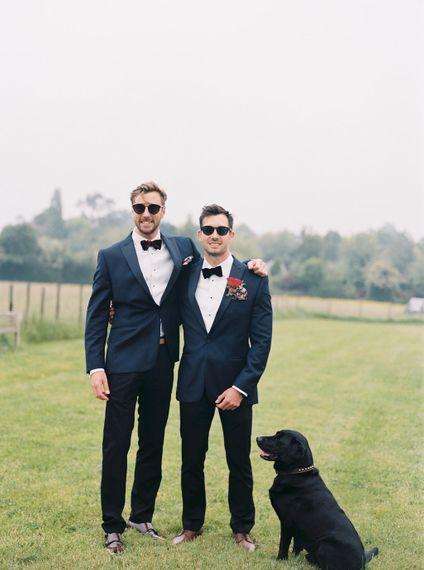 Groom & Groomsmen In Black Tie