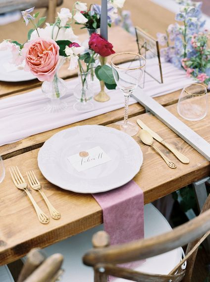 Pink Napkin For Place Setting