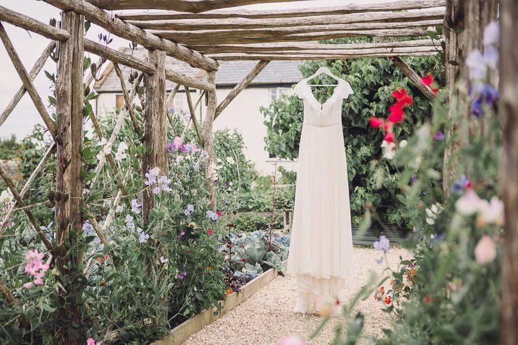 Lace Wedding Dress | Pastel Peter Rabbit Spring Inspiration at River Cottage | Beatrix Potter | Mr McGregor's Garden | Jennifer Jane Photography