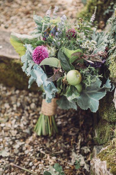 Succulent Vegetable & Floral Buttonhole | Pastel Peter Rabbit Spring Inspiration at River Cottage | Beatrix Potter | Mr McGregor's Garden | Jennifer Jane Photography
