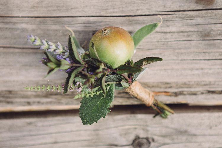 Succulent Vegetable Buttonhole | Pastel Peter Rabbit Spring Inspiration at River Cottage | Beatrix Potter | Mr McGregor's Garden | Jennifer Jane Photography