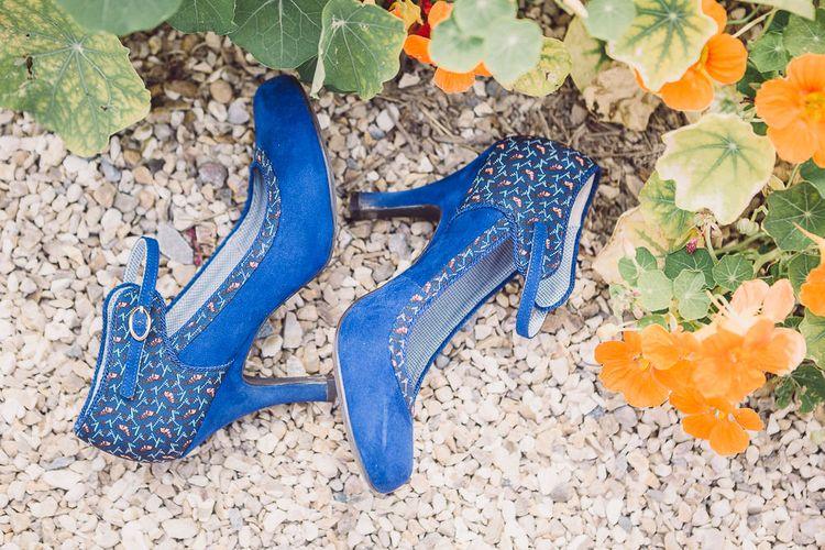 Blue Suede Bridal Shoes | Pastel Peter Rabbit Spring Inspiration at River Cottage | Beatrix Potter | Mr McGregor's Garden | Jennifer Jane Photography