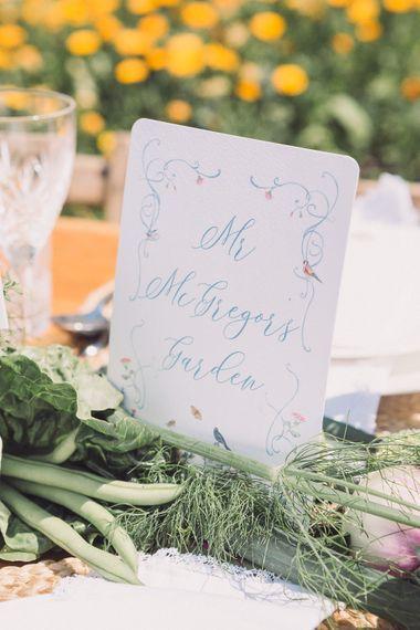 DeWinton Paper Co. On The Day Wedding Stationery | Pastel Peter Rabbit Spring Inspiration at River Cottage | Beatrix Potter | Mr McGregor's Garden | Succulent Vegetables & Flowers | Jennifer Jane Photography